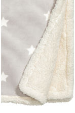 Star-print blanket - Light grey - Home All | H&M CN 3
