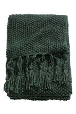 Moss-knit blanket - Dark green - Home All | H&M 2