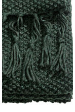 Moss-knit blanket - Dark green - Home All | H&M 4