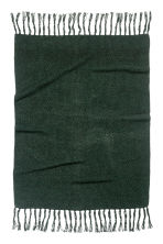 Moss-knit blanket - Dark green - Home All | H&M 3