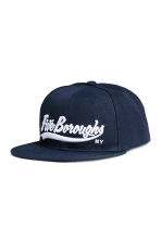 Cap with embroidery - Dark blue - Men | H&M CN 1