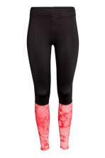 Running tights - Black/Coral - Ladies | H&M CN 2