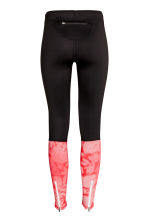 Running tights - Black/Coral - Ladies | H&M CN 3