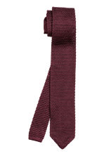 Fine-knit silk tie - Burgundy - Men | H&M CN 2
