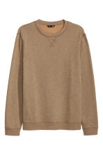 Sweatshirt - Dark beige marl - Men | H&M CN 2