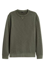 Sweatshirt - Khaki green - Men | H&M CN 2