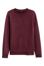 Sweatshirt - Burgundy marl - Men | H&M CN 2