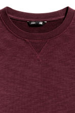 Sweatshirt - Burgundy marl - Men | H&M CN 3