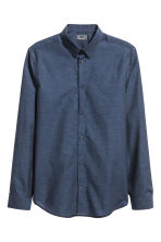 Premium cotton shirt - Dark blue marl - Men | H&M CN 2