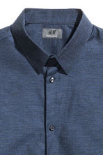 Premium cotton shirt - Dark blue marl - Men | H&M CN 3