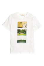 Printed T-shirt - White - Men | H&M CN 2