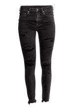 Skinny High Ankle Jeans - Black denim - Ladies | H&M CN 2
