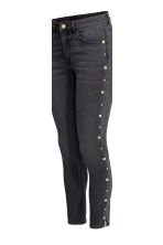 Slim Regular Ankle Jeans - Nearly black - MUJER | H&M ES 5