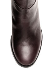 Leather knee boots - Dark brown - Ladies | H&M CN 4