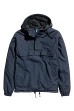 Fleece-lined anorak - Dark blue - Men | H&M CN 2