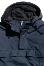 Fleece-lined anorak - Dark blue - Men | H&M CN 3