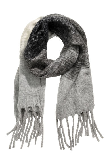 Large scarf - Grey - Ladies | H&M CN 1