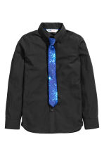 Shirt with tie/bow tie - Black - Kids | H&M CN 2