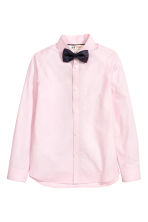 Shirt with tie/bow tie - Light pink - Kids | H&M CN 2