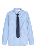 Shirt with tie/bow tie - Blue/Striped - Kids | H&M CN 2