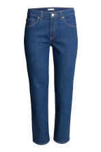 Straight Regular Ankle Jeans - Blu denim scuro - DONNA | H&M IT 2
