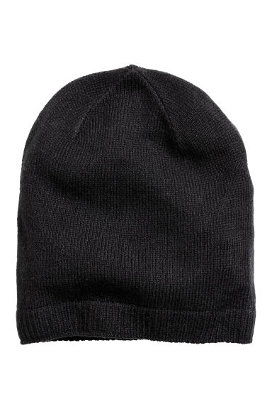 Ribbed hat - Black - Men | H&M CN 1
