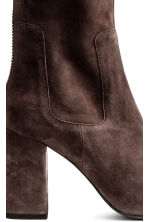 Suede boots - Dark brown - Ladies | H&M CN 3