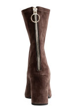 Suede boots - Dark brown - Ladies | H&M CN 4