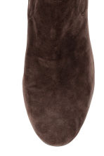 Suede boots - Dark brown - Ladies | H&M CN 5