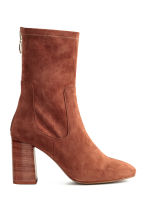 Suede boots - Brown - Ladies | H&M CN 1
