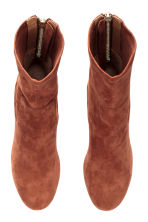 Suede boots - Brown - Ladies | H&M CN 2