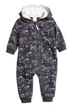 Sweatshirt all-in-one suit - 浅灰色/独角兽 - Kids | H&M CN 1