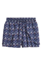 Short shorts - Dark blue/Patterned - Ladies | H&M CN 2