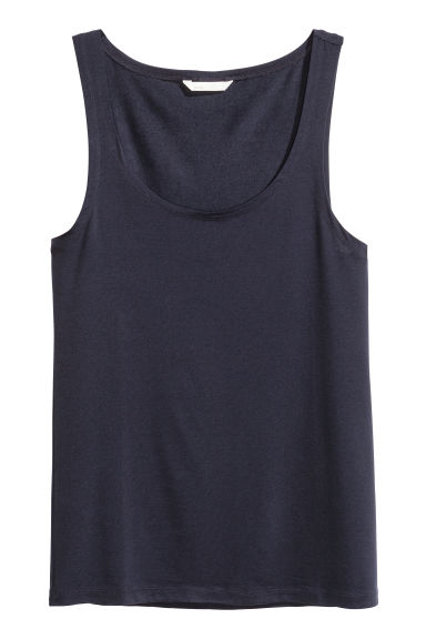 Lyocell vest top - Dark blue - Ladies | H&M CN