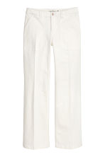 Twill trousers - White - Ladies | H&M CN 2