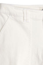 Twill trousers - White - Ladies | H&M CN 3