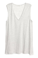 V-neck lyocell top - Light grey marl - Ladies | H&M CN 1