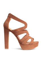 Platform sandals - Brown - Ladies | H&M CN 1