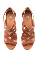 Platform sandals - Brown - Ladies | H&M CN 2