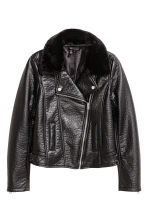 Biker jacket - Black -  | H&M CN 2