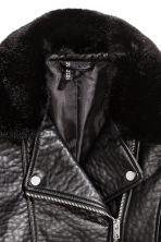 Biker jacket - Black -  | H&M CN 3