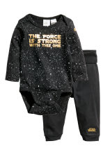 Bodysuit and trousers - Black/Star Wars - Kids | H&M CN 1