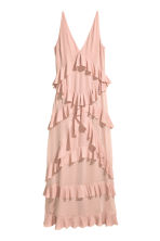 Tiered maxi dress - Powder pink - Ladies | H&M CN 2