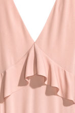 Tiered maxi dress - Powder pink - Ladies | H&M CN 3