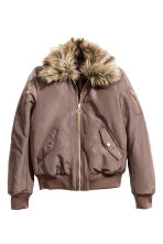 Bomber jacket with collar - Brown -  | H&M CN 2