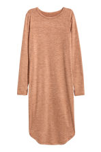 Marled jersey dress - Dark beige - Ladies | H&M CN 2