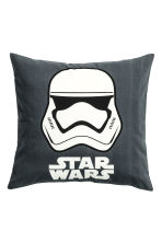 Printed cushion cover - Anthracite grey/Star Wars - Home All | H&M GB 1
