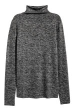 Fine-knit turtleneck jumper - Dark grey marl - Ladies | H&M GB 2