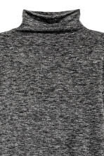 Fine-knit turtleneck jumper - Dark grey marl - Ladies | H&M GB 3