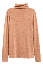 Fine-knit turtleneck jumper - Beige marl - Ladies | H&M GB 2